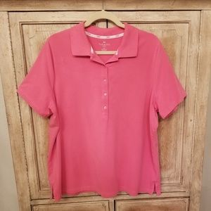 TALBOTS Pink Polo